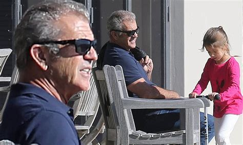 Mel Gibson with daughter Lucia after permission to fly her