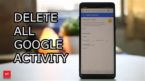 How to delete all google activity such as history and