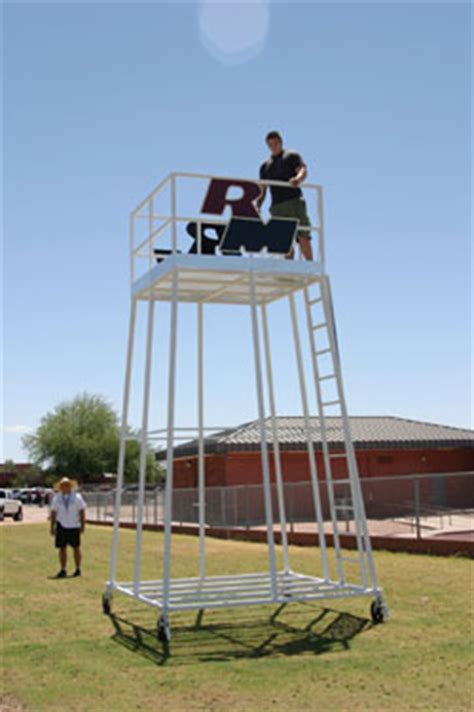 Football Filming Towers by Cliff's Welding