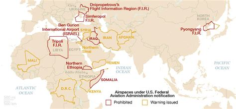 Map: No-Fly Zones and Restricted Airspaces