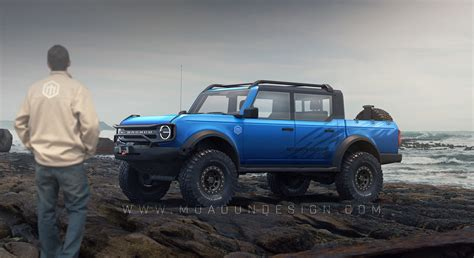 """2021 Ford Bronco """"Pickup Truck"""" Rendering Doesn't Look"""